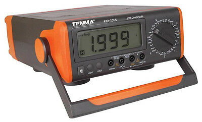 NEW TENMA Bench-top Digital Multimeter. LCD Tester.Frequency & temperature.AC.DC