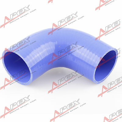 51mm 2.0 Hiwowsport 4-Ply High Performance 90 Degree Elbow Coupler Silicone Hose for Auto with T-Bolt Clamp