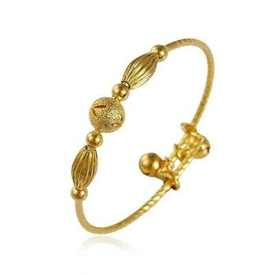 "9ct 9K Yellow ""GOLD Filled"" Young Girls  Bangle Bracelet 50mm.Lovely Gift"