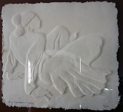 "Rc Gorman Cast Paper ""carol"" Roman Numeral Impression -Artist Proof"