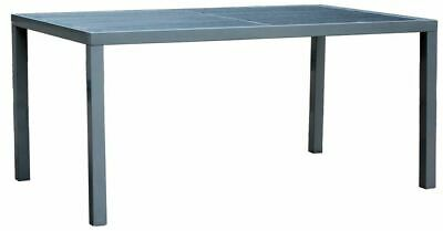 Dining Table Aluminium Frame w/ Wooden Slat 1.8M, Garden Outdoor Furniture