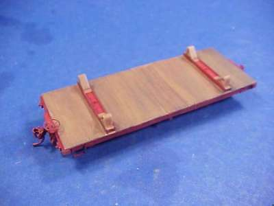 On30 WISEMAN MODEL SERVICES 20' WOOD FLAT CAR WITH LOG BUNKS KIT
