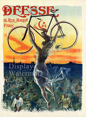 "Vintage French Poster  by PAL 1890's Bicycle Advertising 11.7"" x 16.5"""