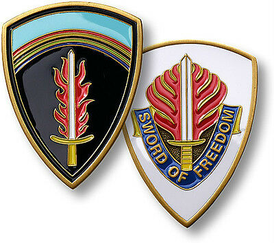 US Army Europe Challenge Coin USAREUR Insignia Heidelberg Germany Seventh 7th