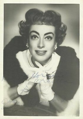 JOAN CRAWFORD Original Vintage Handsigned Photo Portrait 1950's
