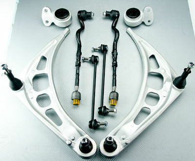 FOR BMW 3 E46 FRONT SUSPENSION STEERING ENDS WISHBONE ARMS KIT COMPLETE SET New