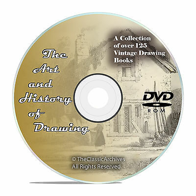 127 Books on DVD, Library of Drawing, Learn to Draw, Sketch How to Paint DVD V54