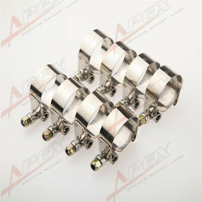 """8x 2.5"""" inch Turbo Pipe Hose Coupler T-bolt Clamps Stainless Steel 67-75mm"""