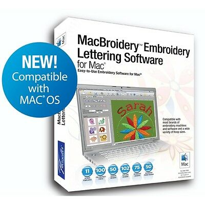 Apple Mac Brother SARES MacBroidery Embroidery Lettering Software New