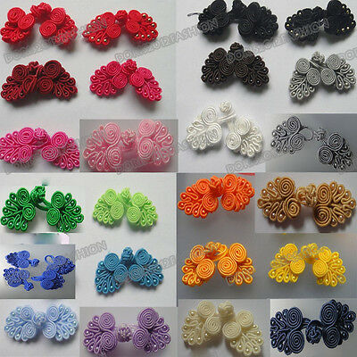 Wholesale lots 50pairs 24color pick Chinese frog closure fasteners knot buttons