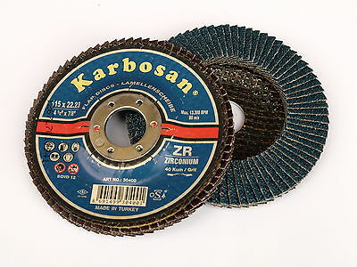 Flap Discs 40/60 /80/120grit 115mm Zirconia High Quality Angle Grinder Sanding