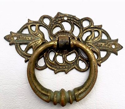 Brass Antique Hardware Vintage Drawer Pull Victorian Cabinet Knob Handle