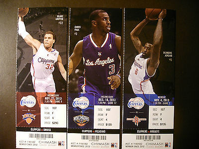 Los Angeles Clippers 2013-14 NBA ticket stubs - One ticket