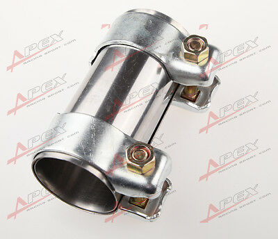 """2.25"""" 57mm Exhaust Tube Pipe Connector Joiner Sleeve Clamp Connector 2.25"""" Tube"""