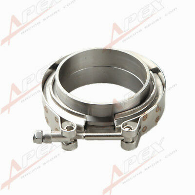 2.5'' V-Band Flange & Clamp Kit for Turbo Exhaust Downpipes Mild Steel Flange