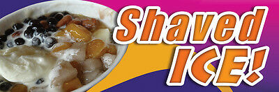 2ft x 6ft Taiwanese Shaved Ice Vinyl Banner 2'x6'  -Alt to Banner Flag  (191)
