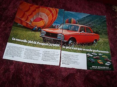 Publicité magazine / Original French Advertising PEUGEOT 304 GL 1977 //