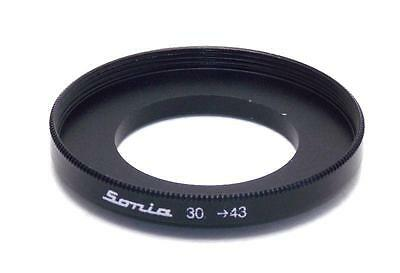 Metal Step up ring 30mm to 43mm 30-43 Sonia New Adapter