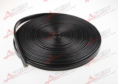 "1/4"" inch Silicone jacketed thermal Heat Sleeving Protector black Wire STHS-1/4"