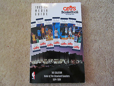 1993 / 1994 Cleveland Cavs Cavaliers Media / Press Guide