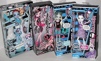 New BOXED Mattel MONSTER HIGH DOLLS Draculaura Lagoona Blue Spectra Vonergeist