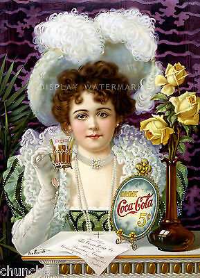 Vintage Coca Cola Poster 1894  FREE SHIPPING TO U.S.