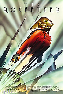 "24"" x 16""  Vintage Print Art Deco Poster ROCKETEER painting film movie"