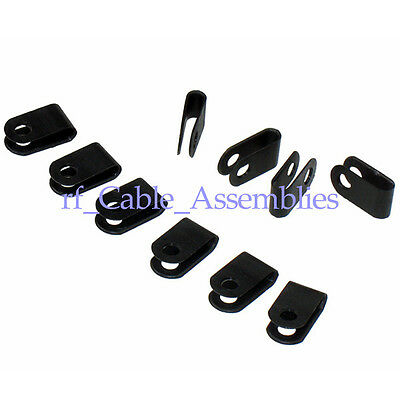 100pcs Cord Wire Clamp Clip Tie Organizer Management for disorder cables 3.3mm