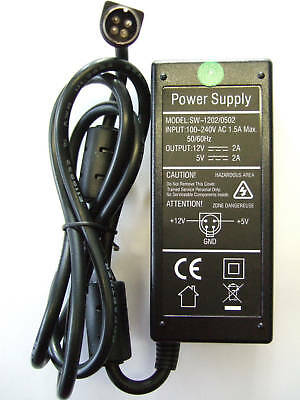 Replacement AC Power Adapter for Wattac BA0362ZI-8-A02 12V 5V 4 pin HDD
