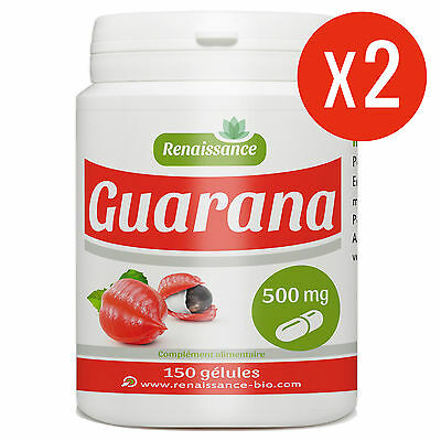 ☆☆☆ GUARANA Graine 300 gélules dosées 500 mg