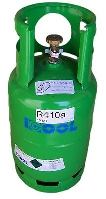 Refrigerant R410a 10 kg in full refillable cylinder  - accreditation required