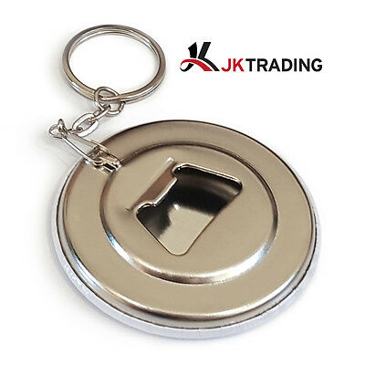 100 Pieces of 58mm Bottle Opener Keychain Supplies for Badge Maker Button Maker