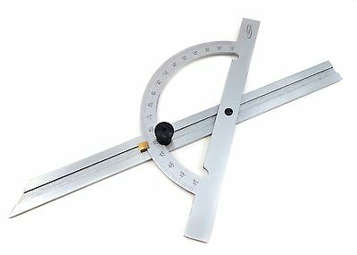 "12"" Hardened Steel NoGlare Protractor Angle Finder Miter Gauge Sliding Bevel iGa"