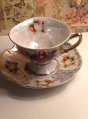 Shafford Hand Decorated Cup and Saucer Set