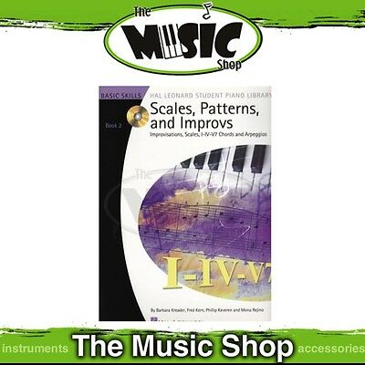 New Hal Leonard Student Piano Library: Scales, Patterns & Improvs Book 2 with CD