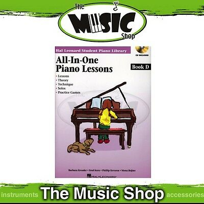 New HLSPL All-In-One Piano Lessons Book D with CD - Hal Leonard Student Library
