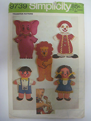 Monkey Boy Vintage Puppet Pattern ~ Clown Lion