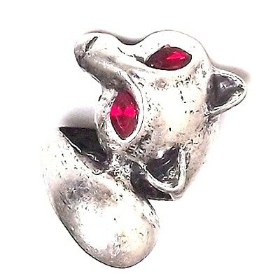 vintage antique punk style fox charm ring biker goth multiple choices