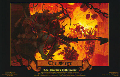 POSTER: FANTASY : THE SIEGE  by BROS. HILDEBRANDT - FREE SHIP ! #588 RC31 S