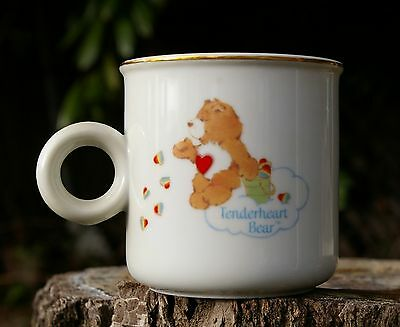 1984 Care Bears Coffee Mug Fine Porcelain Fill Your Day with Something Happy !