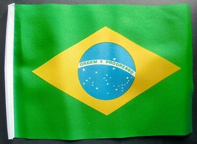 "BRAZIL BUDGET FLAG small 9""x6""  BUDGET BRAZILIAN WORLD CUP"
