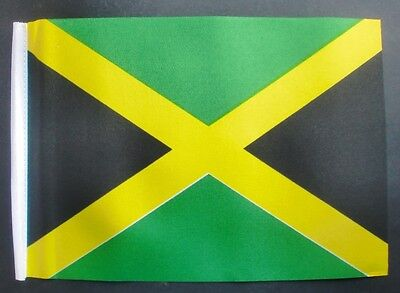 "JAMAICA BUDGET FLAG small 9""x6"" JAMAICAN CARIBBEAN KINGSTON WEST INDIES"