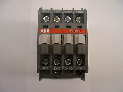 ABB N31E.  Contactor Relay.  Din Rail or Base Mounting. 16 amp