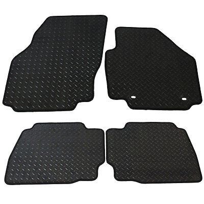 Ford Mondeo MK IV 2007-2012 Tailored 4 Piece Rubber Car Mat Set 2 Oval Clips