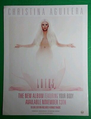 Xtina Christina Aguilera Lotus White Pink Photo Poster Large Window Cling