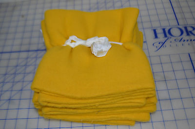 LOT OF 10 yellow fleece acrylic heavy turtle fur youth outdoor neck warmer kids