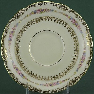 KPM Royal Ivory China, The Festival (Flowers) Pattern, Saucer