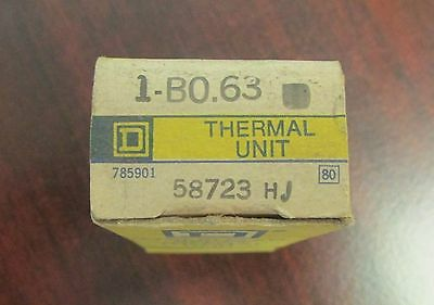 SQUARE D B0 63 Thermal Overload Relay Heater Element B0.63