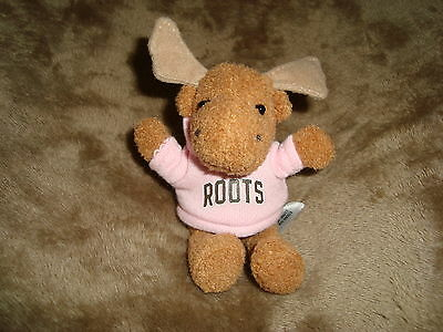 "Roots Moose wearing Pink roots 73 Hoodie sweater mini 4.5"" Plush & Beans"