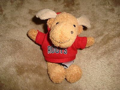 "Roots Moose wearing Red roots 73 Hoodie sweater mini 4.5"" Plush & Beans"